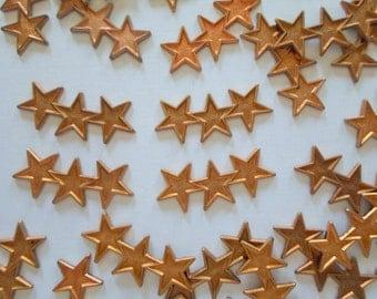Vintage Copper Triple Star Findings - Lot Of 10