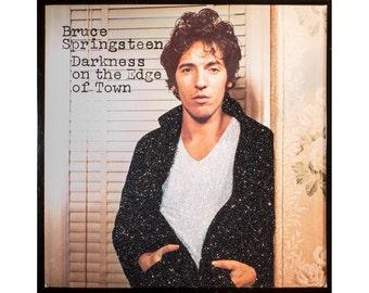 Glittered Vintage Bruce Springsteen Darkness on the Edge of Town Album Art