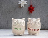 merry christmas owls , holiday  gift SAME DAY SHIPPING