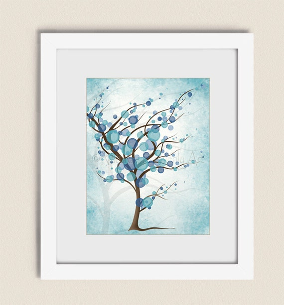 11 x 14 living room art peaceful blue tree wall art print for 11 x 14 living room