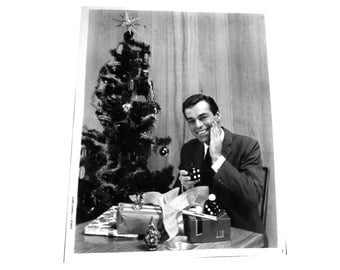 1950s Dunhill Atomic Christmas Advertising Photo. Dice After Shave. Leigh Charell  NYC Photographer.