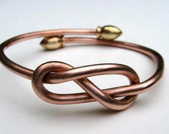 Copper Infinity Expandable Bangle