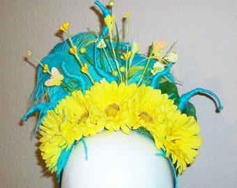 Sunny - floral crown headpiece, fairy, festival