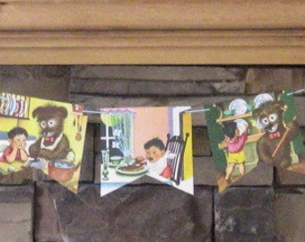 mister dog, the dog who belonged to himself story book bunting; bunting from a vintage little golden book