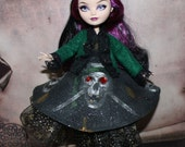 Pirate Skull Dress Skirt Outfit Handmade For Monster or Ever After High Doll