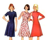 70s A-Line Dress Vintage Sewing Pattern, Style 4779, Size 18, Bust 40