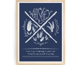 Whisky Screenprint Poster - Hand Printed, 18 x 24 Wall Art, Whiskey Ingredients