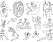 Beautiful Bones Embroidery pattern