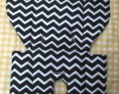 Evenflo replacement high chair pad, custom chair cover, baby accessory, kids feeding chair, nursery decor, black and white chevron, zig zag