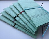 Vintage Architectural Project Index Card Journals - A7 paper size - 6 colours available