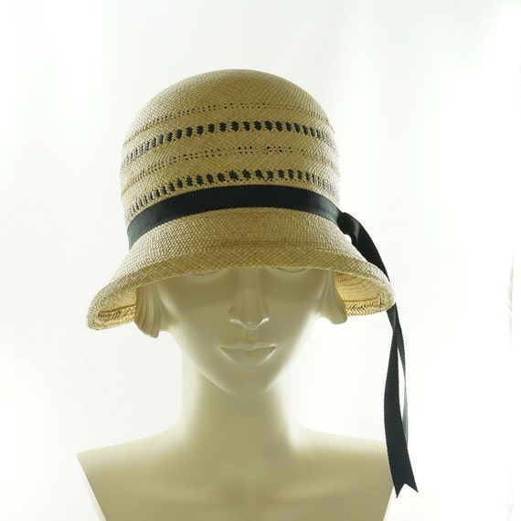 cloche hat for panama straw hat handmade by