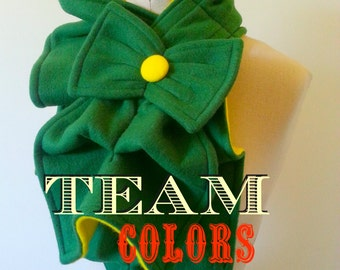 NEW! Team Colors - Ruffle bow scarf - Many combos to choose from