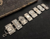 Reserved listing Karen Petite Door Panel Bracelet sterling silver