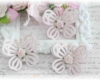 Shabby Flutterby Embellishments for Scrapbooking, Cardmaking, Altered Art, Tag Art, Mini Album