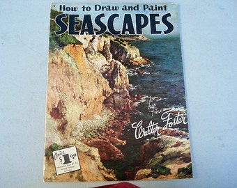 How To Draw And Paint, Seascapes, Panting, How to Paint, Painting Seascapes, Vintage How To, Using Paint, Mixing Colors, Mixing Colors, Sea