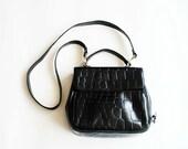 Vintage 80s croco like handbag / purse