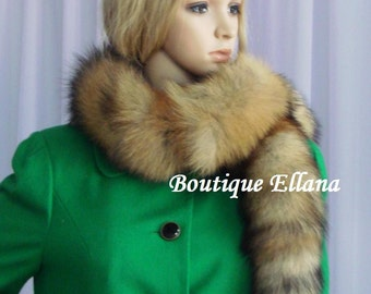 Red Fox Boa. REAL Fur Wrap. Very elegant and naturally luxurious.
