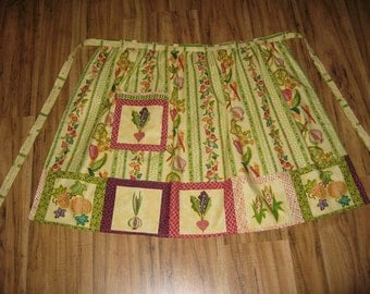 Half Apron made from Garden Fresh fabric