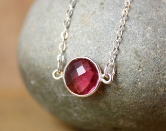 Mini Gemstone Connector Necklace - Choose Your Gemstone - Layering Necklaces