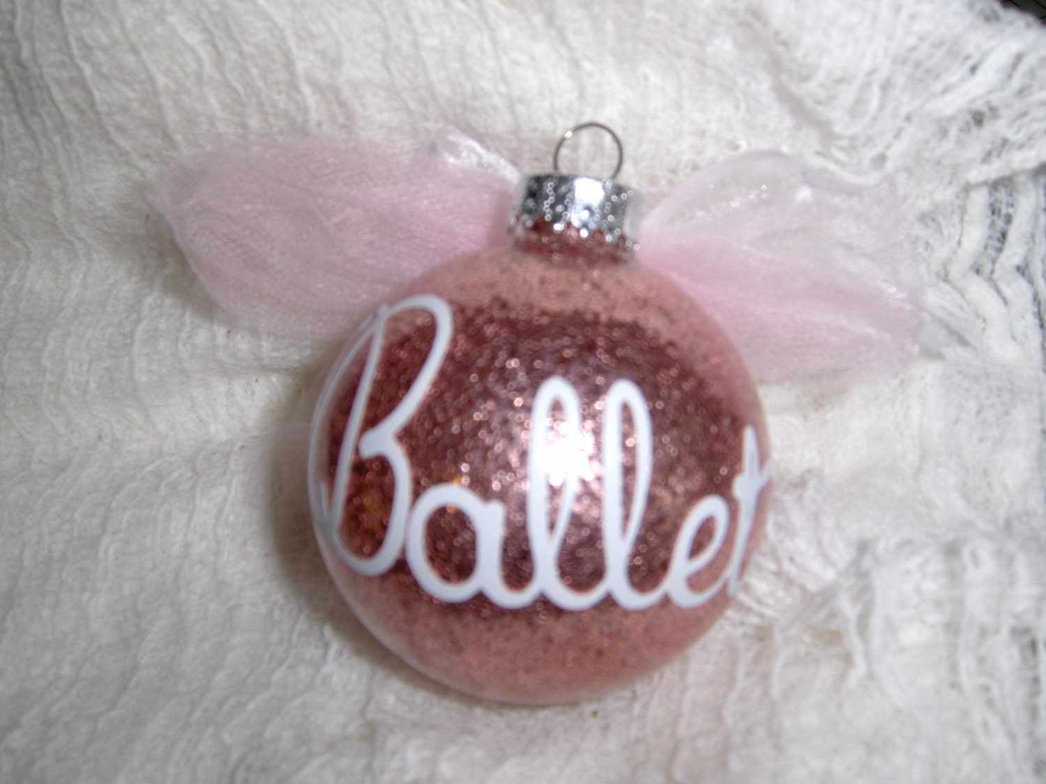 Ballet or Tap Glass Ornament Personalized