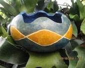Yellow Diamond Gourd Bowl