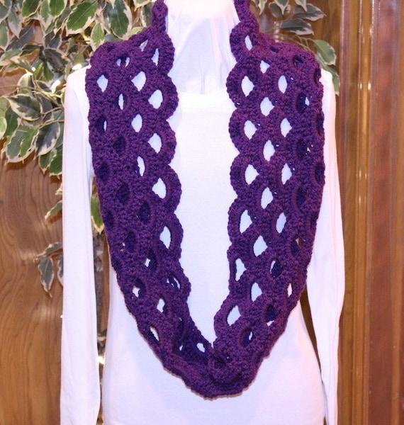 Free Crochet Pattern Scallop Scarf : Crochet Pattern Scallop Infinity Scarf by KimberleesKorner ...