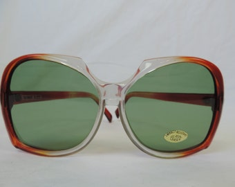 vintage oversize sunglasses 70s brown big glasses retro eyewear boho sunglasses new old stock