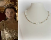 SALE! Anne Boleyn Coronation Pearl Necklace- n525