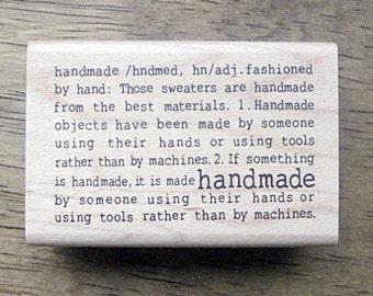 "Middle Stamp ""handmade"", U7246"