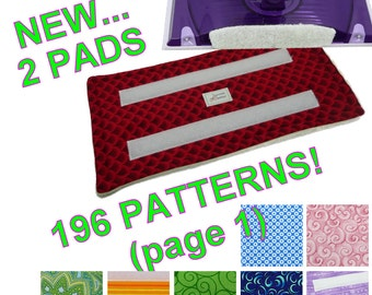 2 pads (Page 1 of 3 for 196 Patterns), Reusable Swiffer Wet Jet pads, Fabric, Terry Cloth pads EcoSwift Pad washable WetJet pads EcoGreen