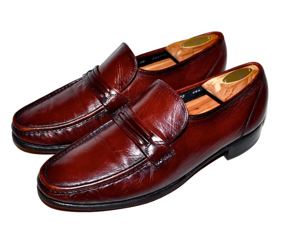 items similar to florsheim handsome oxblood leather slip