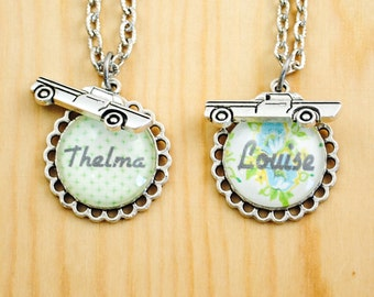 Thelma and Louise Friendship Necklace Set - Road Trip Necklace - Friendship Necklace Set
