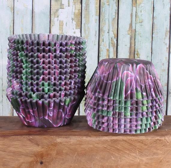 Purple Violet Flower Cupcake Liners, Flower Cupcake Liners, Purple Cupcake Liners, Spring Cupcake Liners (500 count pack) SUPER SALE