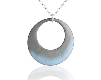Blue Mod Circle Necklace