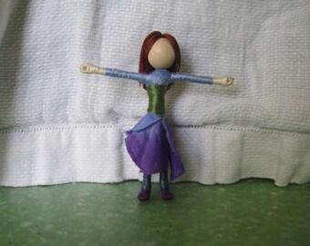 Blue Hydrangea Fairy Doll - Waldorf Doll - Flower Fairy - Art Doll, Worry Doll, Small fairy doll