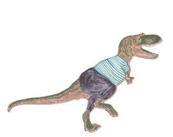 Tyrex Dressed - Dinosaur Magnet