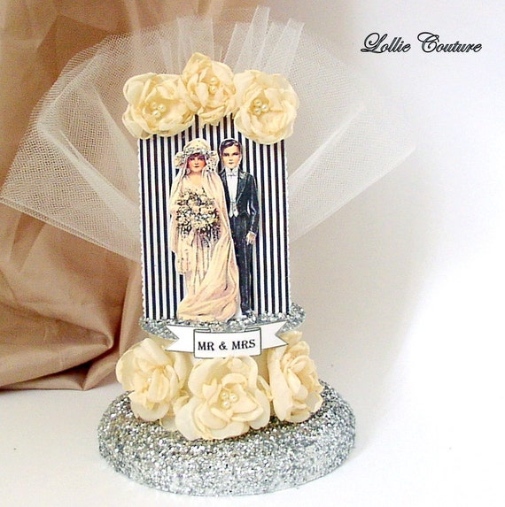 gatsby wedding cake toppers gatsby style wedding cake topper by lolliecouture on etsy 14655