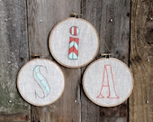 """Set of 3 Custom initials or Monogram 5"""" Hoops"""