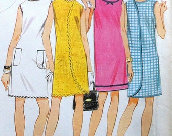 Vintage Wraparound Dress Sewing Pattern UNCUT McCalls 9119 Sizes 12-14 Wrap-a-Rounder