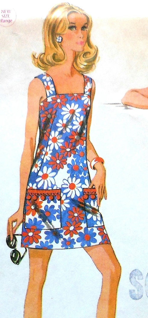 Vintage Summer Dress Sewing Pattern Teen Size 11 12 Mccalls