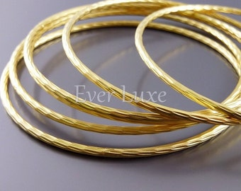 1 textured large bangle bracelet base, matte gold round pendants, jewelry / craft supplies, bracelet making 952-MG (matte gold, 1 piece)