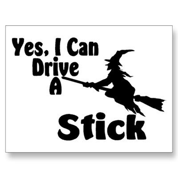 Items Similar To Witch With Broom I Can Drive A Stick