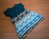 Woodland Wool Upcycled Dress 3T 4T