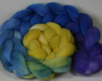 Sun and Surf - hand dyed Organic Polwarth - 4 oz