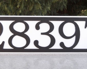 Address, Metal Address sign, Wall plaque, Street address, House number,  Street number, custom, Steel, Font choice, Color choice