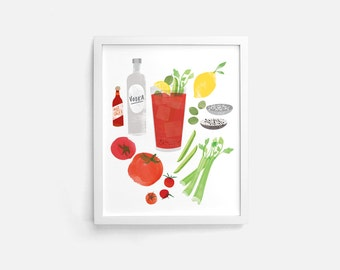Bloody Mary - 8 x 10 Print