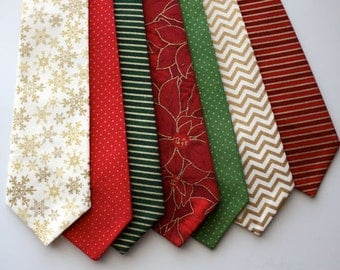Little and Big Guy Necktie Tie - Classic Christmas Collection - (Newborn-Adult) - Baby Boy Toddler Teen Man - (Made to Order)