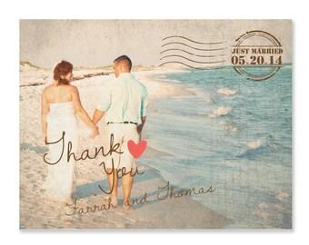 Postcard Photo Card, Vintage Thank You, Vintage Card, Couple, Couple Card, Thank You Card