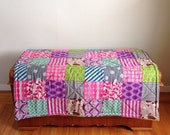 Patchwork in Pink Baby Playmat. Double Padded Infant Floor Mat. Eco-Friendly Baby Activity Mat