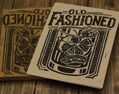 Old Fashioned-  Block Print